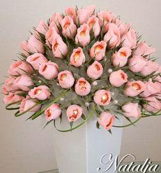 ❤ Krepp papír rózsa Ferrero Rocher ( bonbon ) csokor ❤Mindy -  kreatív ötletek és dekorációk minden napra