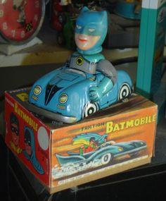 Vintage RARE Tin Friction Batman Batmobile Marx Toys Japan 60's Repro Box | eBay