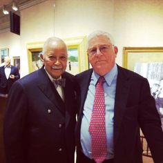 """DINKINS CELEBRATES RAVITCH Former New York City mayor David Dinkins (l.) and former New York lieutenant governor Richard Ravitch at the launch party for Ravitch's memoir """"So Much To Do"""" at Doyle New York on April 29."""