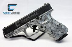 Glock 23 Silver Skulls