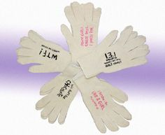 Keep warm in our slogan-printed gloves