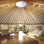 Yurt Interior! - My dream is to have a yurt. Maybe as a vacation house or on the back of my future dream property for hiding from visitors.