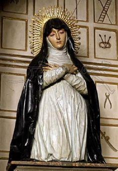 José de Mora - Virgen de la Soledad. Hacia 1671. Iglesia de Santa Ana, Granada.