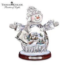 "Thomas Kinkade ""Winter Wonderland"" Crystal Snow Girl Figurine: Lights Up! by The Bradford Exchange by Bradford Exchange, http://www.amazon.com/dp/B005LUUZ5E/ref=cm_sw_r_pi_dp_Et3-qb0J539H6"