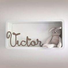 {♡ Victor ♡} #manitricotine#victor#prenomtricotin#prenomenlaine#tricotin#laine#coton#phildar#decorationdinterieur#decochambredebebe#naturel#faitmain#spoolknitting#knitting#knit#handmade#madewithlove#lesptitsbonheursdemani