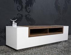 TV/Wandmeubel Empire wit/walnoot - TV meubels - TV & Wandmeubels