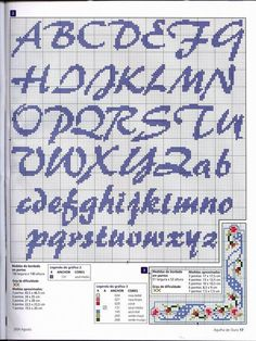 abecedario en punto de cruz para hombre