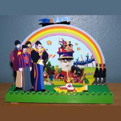 Beatles YELLOW SUBMARINE TV Lamp 50's Retro by CreativePal on Etsy, $95.00
