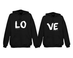 Matching hoodie sweatshirts for newlyweds - LOVE All I Need Is You Couples Hoodies by 365 in love