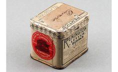 Vintage metal box with killer graphics.