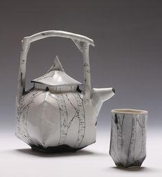 birch teapot and cup by JosieJurczenia, via Flickr