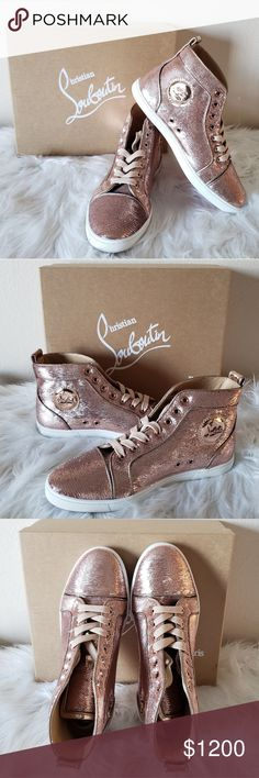 f1b50e14ea7b0 CHRISTIAN LOUBOUTIN BIP BIP PINK SEQUIN SNEAKERS 100% AUTHENTIC and BRAND  NEW Size 39 (