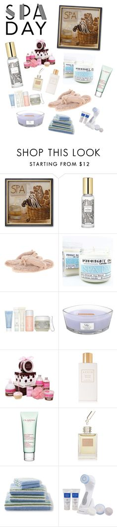 """""""Spa Day"""" by fcfashion ❤ liked on Polyvore featuring Bedroom Athletics, Sisley, WoodWick, AERIN, Clarins, L.L.Bean and ProSonic"""