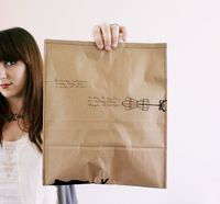 DIY: Recycled Kraft Package // Instead of buying envelopes! Sew your own grocery bags. | A Beautiful Mess