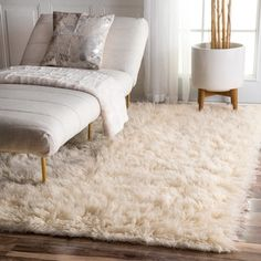 nuLOOM Hand-woven Alexa Flokati Wool Shag Rug x - 12537440 - Overstock - Great Deals on Nuloom - Rugs - Mobile Cozy Rugs, Bedroom Rug, Carpet Design, Flokati Rug, Cheap Home Decor, Fuzzy Rug, Rugs, Bedroom Carpet, Home Decor