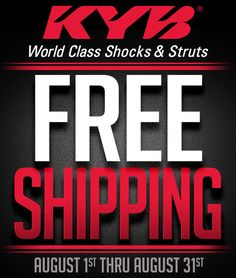 KYB: Save up to 10% and Free Shipping during August: FREE SHIPPING ON KYB FOR THE MONTH OF AUGUST… #Blog #Shipping_Specials #Special_Deals