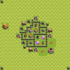 Clash of Clans 4. Seviye Köy Düzeni Taktikleri - Clash Of Clans Köy Düzeni