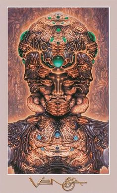 A Robert Venosa fine art poster titled Hallucinogenic Self-Portrait.  inches on glossy stock.