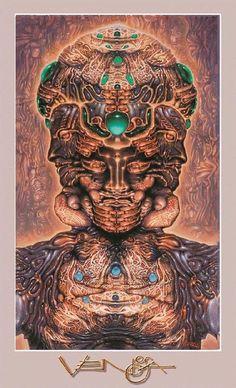 A Robert Venosa fine art poster titled Hallucinogenic Self-Portrait.  inches on glossy stock.
