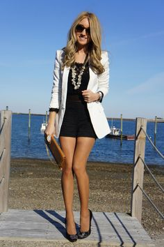 i love the long blazer with a dress look