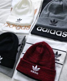Any but white Cute Lazy Outfits, Cool Outfits, Casual Outfits, Fashion Outfits, Womens Fashion, Adidas Beanie, Adidas Outfit, Beanie Outfit, Beanie Hats
