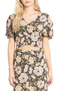 Free shipping and returns on Leith Floral Print Blouse at Nordstrom.com. Flowy in the sleeves and cropped at the hem, this ladylike blouse looks great with high-rise bottoms.