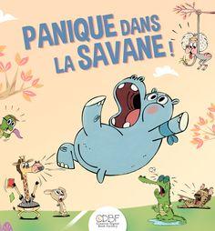 """Couverture du livre numérique enrichi """"Panique dans la savane"""" #AuroreDamant #ebooks #epub #CDBF #kids #epub3 #Livresjeunesse #jeunesse #iPad #enfants #mix&match"""