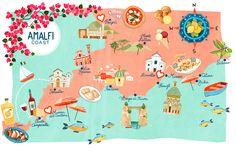Amalfi Coast map - The Event Artisan Italy Vacation, Italy Travel, Amalfi Coast Italy, Sorrento Italy, Capri Italy, Naples Italy, Sicily Italy, Venice Italy, Travel Sights