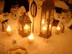 love the lantern idea for the tables