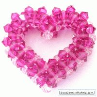 Around The Beading Table: Free Beaded Heart Patterns -  links to a number of different hearts.  ~ Seed Bead Tutorials