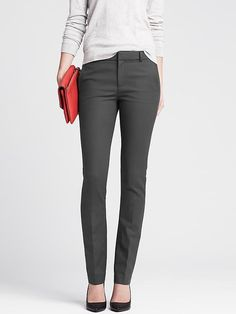 Slim-Fit Stretch Cotton Straight Leg