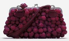 raspberry purse  #fashionfood #purse #fruit