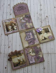 Cathy - Mini album matchbox  with Majadesign papers...