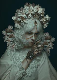 Dark poetic portrait by Rebecca Millen Portrait Inspiration, Character Inspiration, Character Art, Fantasy Photography, Portrait Photography, Fashion Photography, Pretty People, Beautiful People, Art Visage