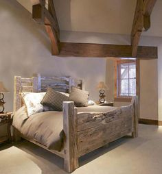 King Bed - American Western Stock Yard Fence Inspired -  BRS178