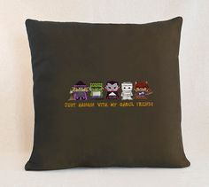 Just Hangin With My Ghoul Friends   Customizable Pillow Cover by SheBellaBirk on Etsy