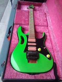 Ibanez JEM777LNG there are 777 of these worldwide. I've encountered 3, had the chance to buy 2 and one day I will. Beautifully hideous.