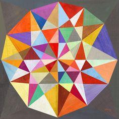 Geometric gem jewel print on etsy $44