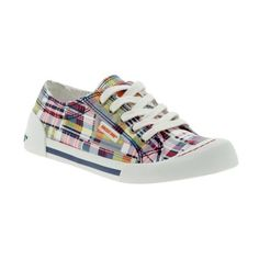 Women's shoes/bags: Rocket Dog Jazzin - Navy madras plaid