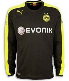 22427ed3d15 Borussia Dortmund Away Long Sleeve Shirt …