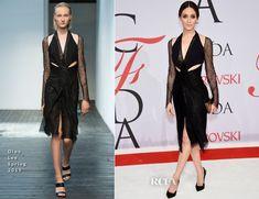 Emmy Rossum In Dion Lee - 2015 CFDA Fashion Awards