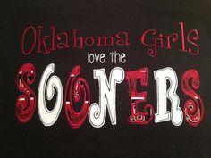 Oklahoma Sooners shirt personalized. $22.00, via Etsy.