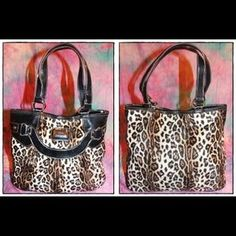 I just discovered this while shopping on Poshmark: XOXO Leopard cheetah patent trim tote shoulder bag. Check it out!  Size: OS
