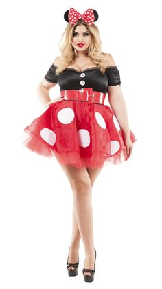 bf9084a1d Party King Coquette Mouse Plus Size Costume Women s Costume - Nastassy  Halloween Outfits For Women