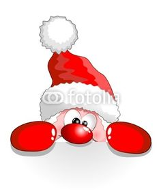 Vettoriale: Babbo Natale Buffo Auguri-Funny Santa Claus Cartoon Background