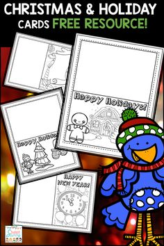 Free - Christmas and Holiday Cards! Students can create winter & holiday cards for family and friends!