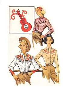 McCall's 2137 UNCUT Vintage 50s Misses Western by PatternPlaying