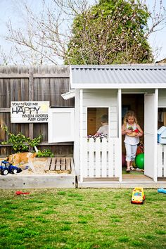 Cubby house from cottage garden in Williamstown, Melbourne. Photography: James Henry | Story: homes+