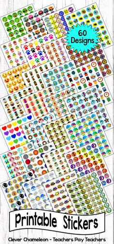 Stickers 60 printable sticker templates pinterest online stickers 60 printable sticker templates pinterest online labels template and classroom management maxwellsz
