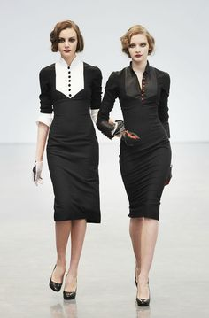 Need to take sewing lessons so I can make dresses like these L'Wren Scott's.